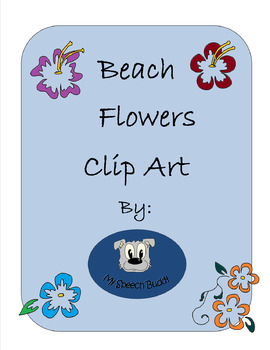 Beach Flowers Clip Art