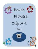 Beach Flowers Clip Art