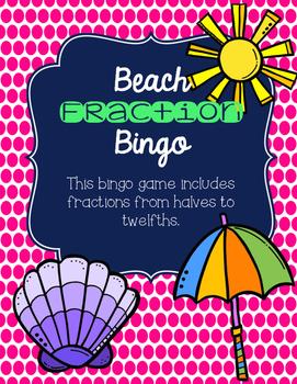 Beach Fraction Bingo