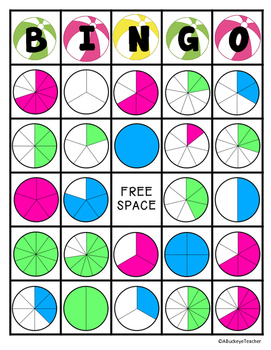 Beach Fraction Bingo