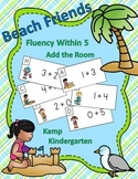 Beach Friends Fluency Within 5 Add the Room