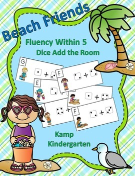Beach Friends Fluency Within 5 Dice Add the Room