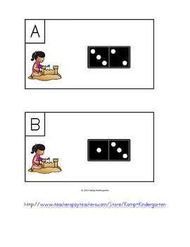 Beach Friends Fluency Within 5 Domino Add the Room
