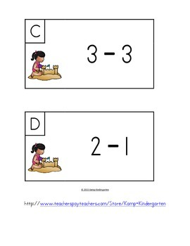 Beach Friends Fluency Within 5 Subtract the Room