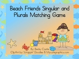 Beach Friends Singular & Plural Matching Game with a twist! 66 cards total