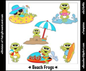 Beach Frogs - FREE Cu4Cu Lic - Photoshop PSD Template Collection
