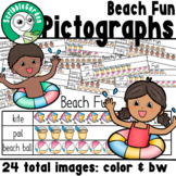 Beach Fun: 3 Category Pictographs