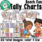 Beach Fun: 3 Category Tally Charts