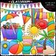Beach Fun Clip Art & B&W Bundle 1 (3 Sets)