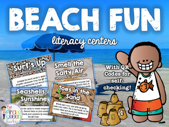 Beach Fun Literacy Centers: Four Daily Five Word Work Cent
