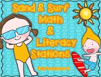 Beach Fun Math and Literacy Stations