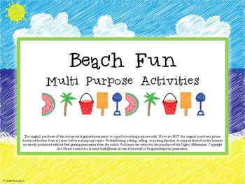 Beach Fun {Multi-Purpose Activities}