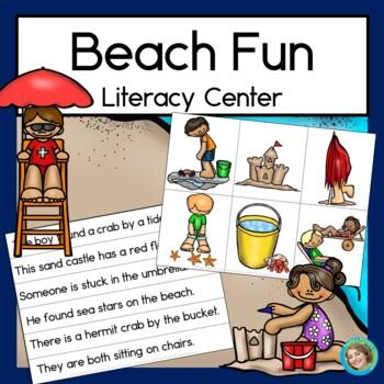 Beach Fun Sentence Picture Match