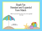 Beach Fun Standard and Expanded Form Match