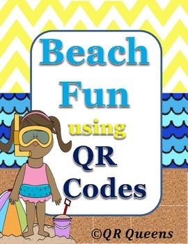 Beach Fun using QR Codes Listening Center