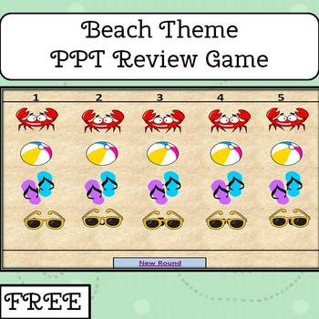 Beach Theme Review Game for Power Point (FREE)