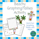 Beach Graphing & Tally Marks Fun- Dice Game- Summer- End of Year- Math Ocean