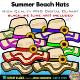 Beach Hats Clipart | Summer Clip Art for Personal and Comm