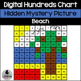 Beach Hundreds Chart Hidden Picture Activity for Oceans and Summer Themes