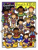 Beach KIDS: Summer Clipart {Creative Clips Digital Clipart}