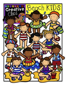 Beach KIDS: Summer Clipart {Creative Clips Digital Clipart}