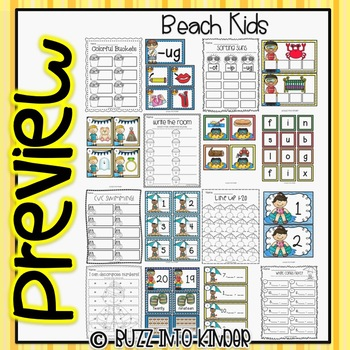Beach Kids - A Summer Unit with Common Core Standards