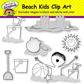 Beach Kids Clip Art