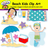 Beach Kids Clip Art