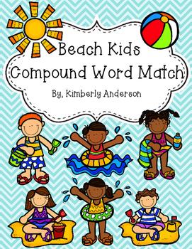 Beach Kids - Summertime Compound Words Match