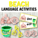 Beach Language Centers: Letter Cards, Sight Words, Numbers, and More!