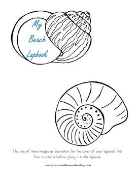 Beach Lapbook Elements