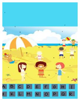 Beach Letter Hunt