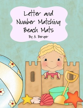 Beach Letter and Number Matching Mats