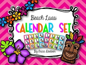 Beach Luau Classroom Calendar Set--2 different sets!