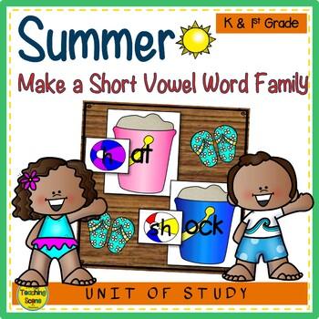 Beach Make A Short Vowel Word Family Center