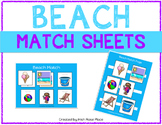 Beach Match Sheets
