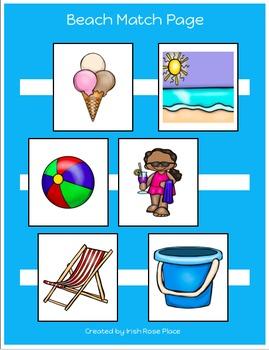 Beach Match Sheets