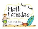 Beach Math Formulas