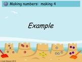 SMARTboard Beach Math Making Numbers