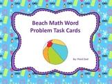 Beach Math Word Problem Task Cards
