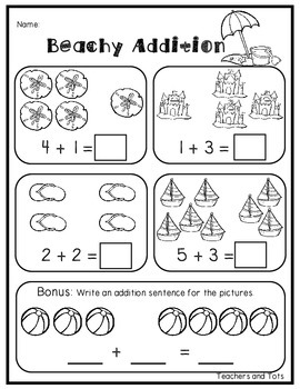 Beach Math and Literacy Pack