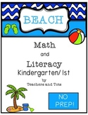 Beach Math and Literacy Pack