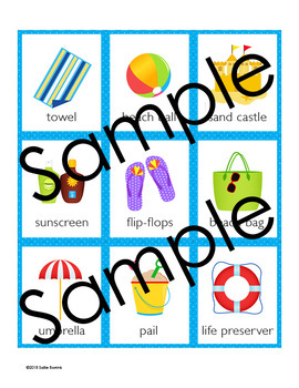 Beach Memory Game - Beach Theme Activity