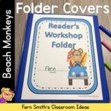 Student Binder Covers - Beach Monkeys Student Work Folder Cover