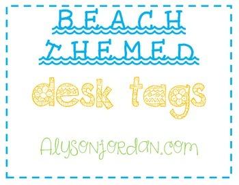 Beach Nameplates