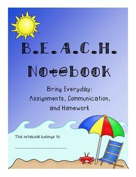 Beach Notebook Cover