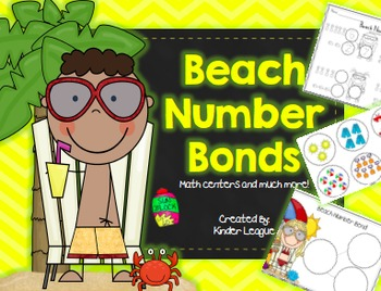 Beach Number Bonds by Kinder League