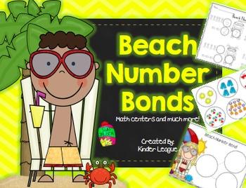 Beach Number Bonds by Kinder League