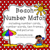 Beach Number Card Match