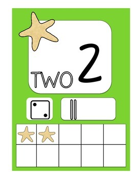 Beach Number Cards 1 - 20